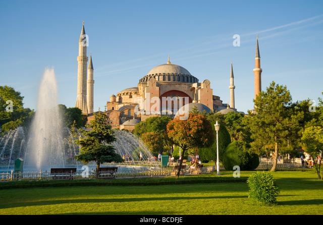 Aya Sofya in Istanbul Turkey - Stock Image