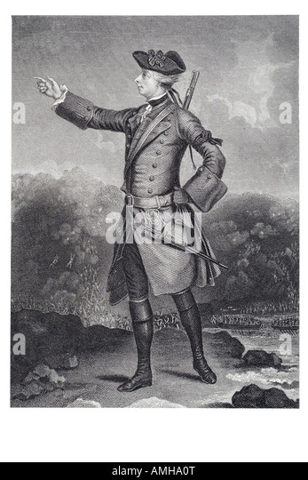 major General James Wolfe 1727 1759 British military officer victory over French Canada rule Jacobite rising Scotland - Stock Image