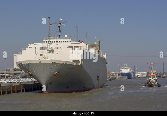 Ro-Ro ship African Highway - Stock Image