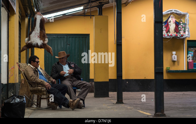 Market, Subachoque, a town in the Gran Sabana northwest of Bogota, Colombia. - Stock Image