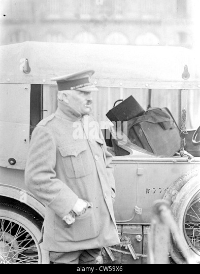 Rouen, English hospital camp , General Woodhouse, general inspector of the medical corps - Stock Image
