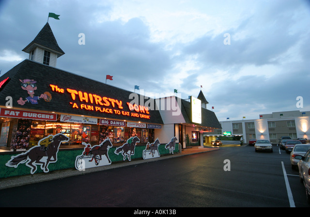 Ohio Sandusky The Thirsty Pony Restaurant - Stock Image