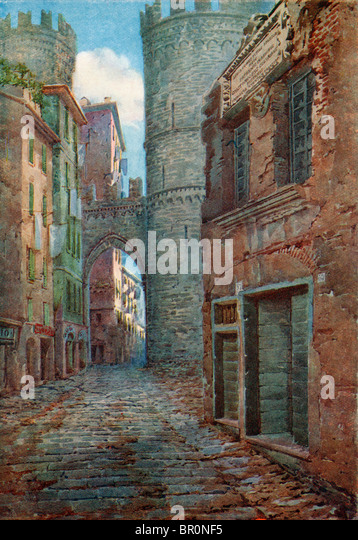 The birthplace of Columbus at Genoa, Italy. - Stock-Bilder