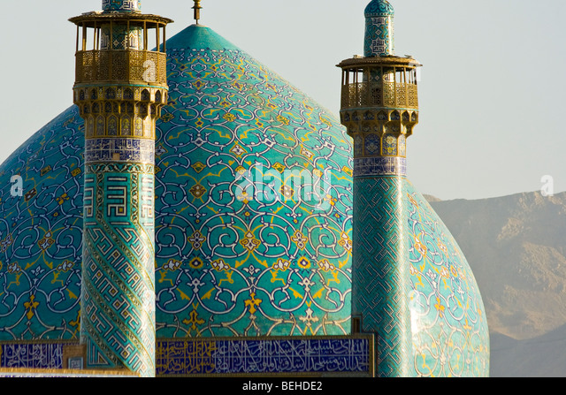 Shah or Imam Mosque in Imam Square in Isfahan Iran - Stock-Bilder