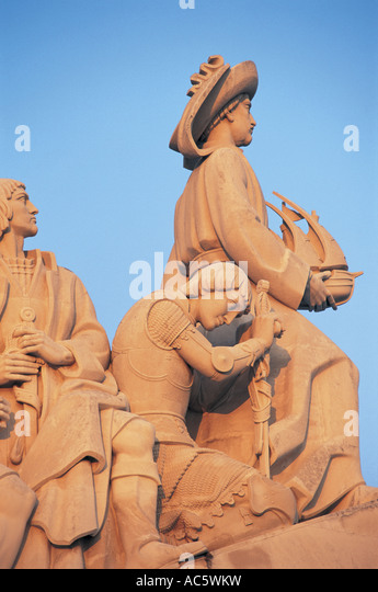 Discovery monument Lisbon Portugal - Stock Image