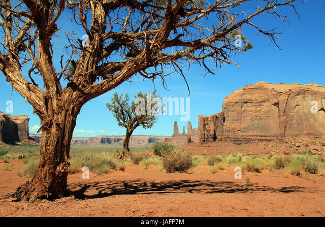 View from Monument Valley Navajo Tribal Park. Utah, United States - Stock Image