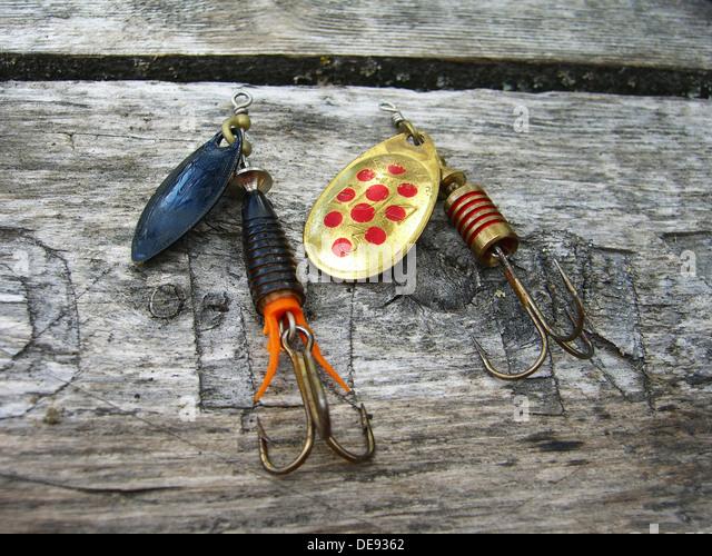 Metal Fishing Lures Stock Photos & Metal Fishing Lures ...