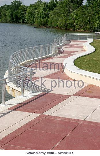 Alabama Montgomery Riverwalk Woodruff Lake Alabama River - Stock Image