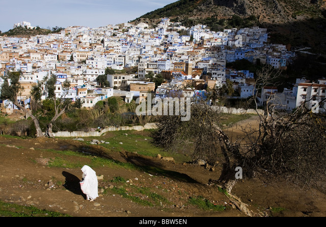 Chefchaouen Morocco North Africa - Stock Image