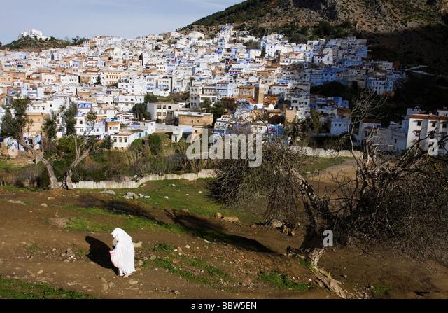 Chefchaouen Morocco North Africa - Stock-Bilder