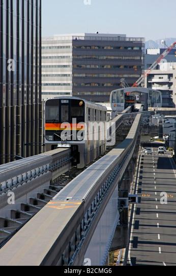 Tama Intercity Monorail Tokyo Japan - Stock-Bilder