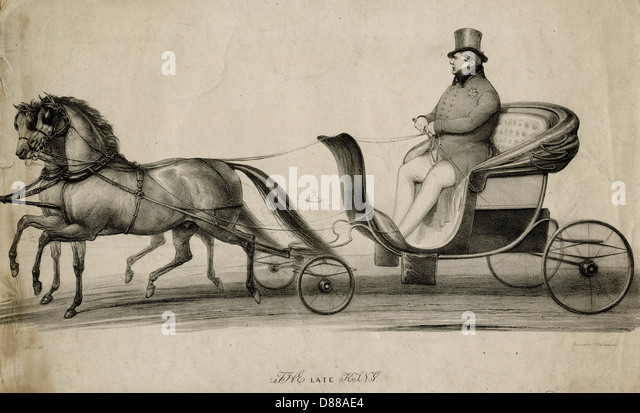 George Iv In Carriage - Stock Image