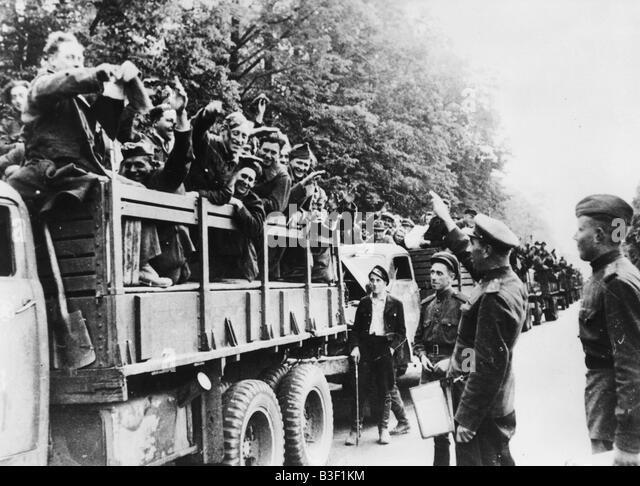 WW2/End of War/Prisoners of War. - Stock Image