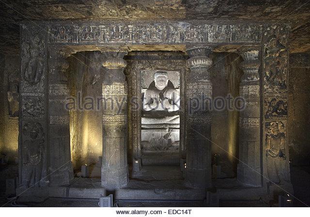 Twentieth Ajanta Ishi, Ajanta, India - Stock Image