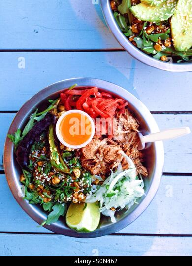 The Diego Bowl - from Guero Food Cart in Portland - Stock-Bilder