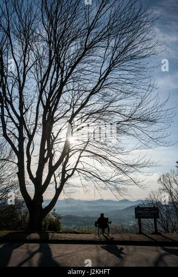 Chestnut Cove Overlook, Blue Ridge Parkway, near Asheville, North Carolina, USA - Stock Image