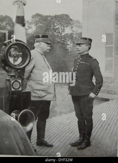French Generals Joffre and Foch. - Stock Image