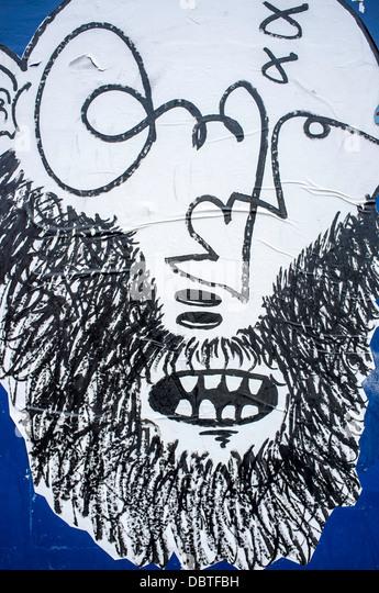 wall graffiti art artistic urban London UK - Stock-Bilder