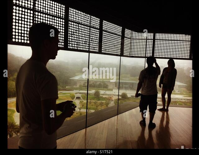 The DeYoung museum, Golden Gate Park, San Francisco, California in the Museum tower. - Stock Image