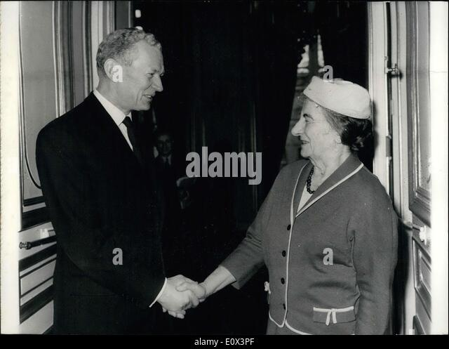 Mar. 16, 1965 - They are both Ministers of Foreign Affairs. - Stock Image