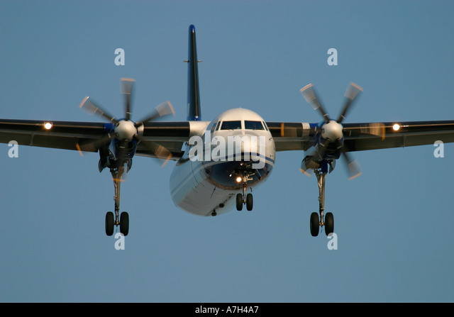 Fokker 50 VLM Airlines - Stock Image