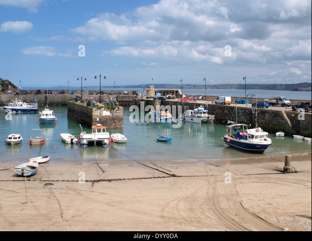 Newquay Harbour, Cornwall, UK - Stock Image
