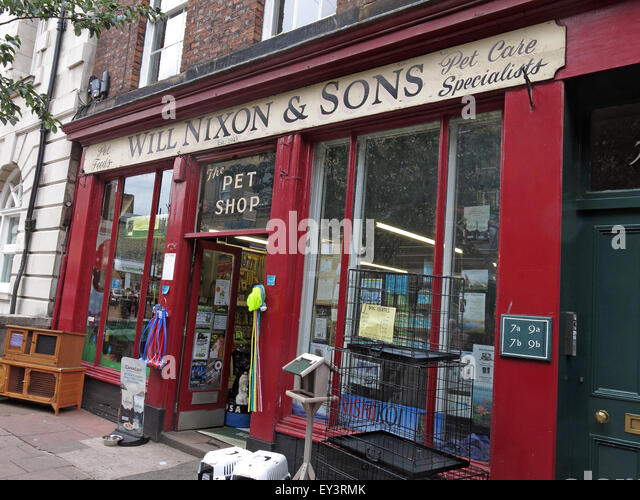 Will Nixon and sons,traditional Carlisle pet shop,Cumbria,England,UK - Stock Image
