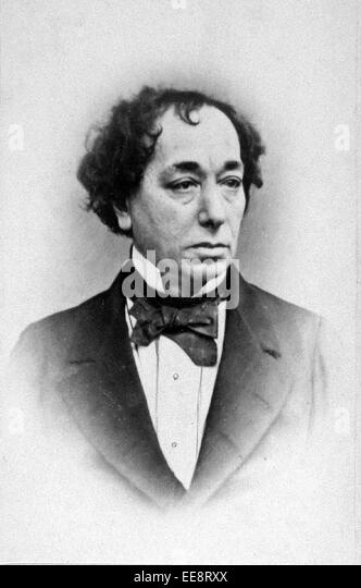 Benjamin Disraeli, 1st Earl of Beaconsfield, British Conservative politician who twice served as Prime Minister. - Stock Image
