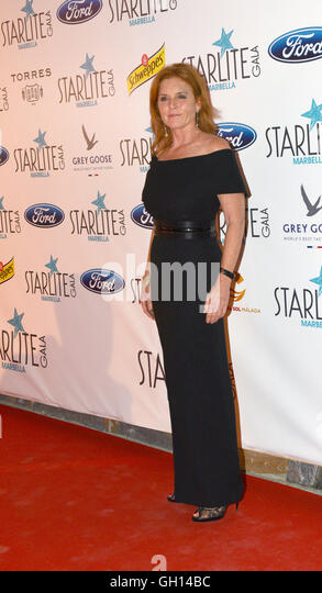Marbella, Spain. 06th Aug, 2016. Starliet Charity Gala in Marbella, Spain. Sarah, Duchess of York is a British writer, - Stock Image