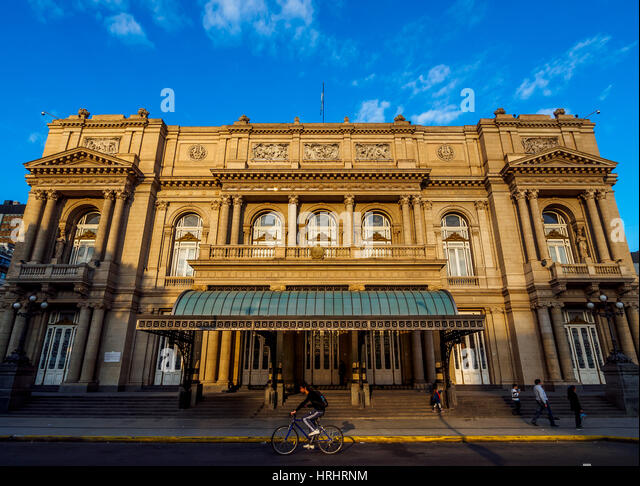 View of Teatro Colon, Buenos Aires, Buenos Aires Province, Argentina - Stock-Bilder