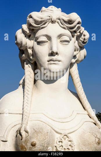 Angel in french garden of baroque summer residence belvedere vienna