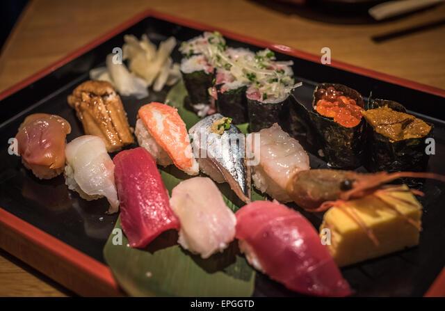 Japanese sushi set - Stock Image