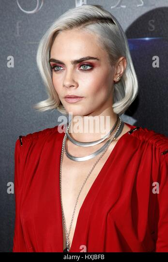 Las Vegas, NV, USA. 28th Mar, 2017. Cara Delevingne in attendance for STXfilms Headlines 'The State Of The Industry: - Stock-Bilder