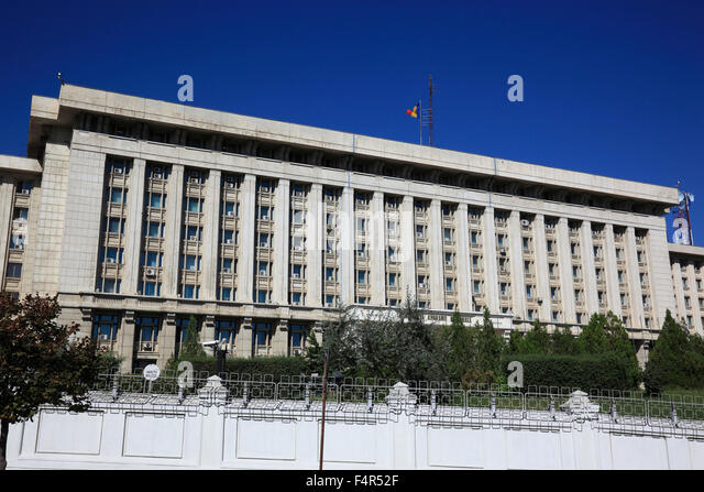 Ministry of Internal Affairs, Bucharest, Romania - Stock Image