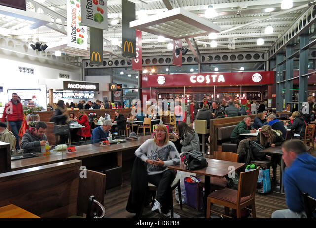 Strensham Roadchef Services, Costa Coffee, M5,  upton-upon-severn, worcester, England, UK - Stock Image