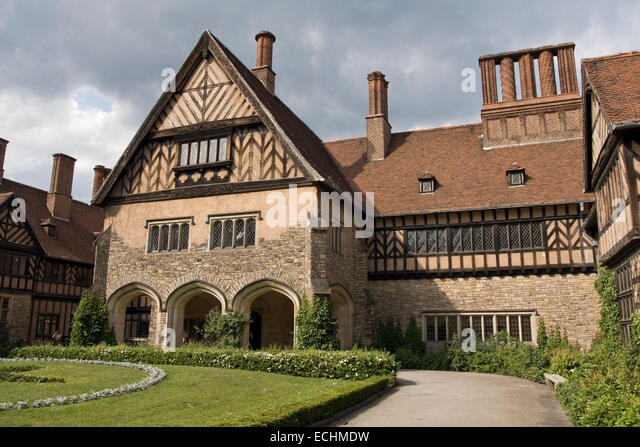 Europe, Germany, Brandenburg, Potsdam, New Garden, Cecilienhof Castle - Stock Image