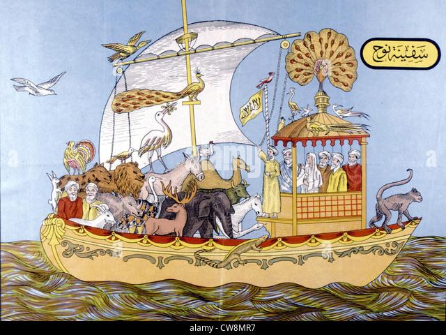 Noah's Ark, illustrations of the 19th century - Stock-Bilder