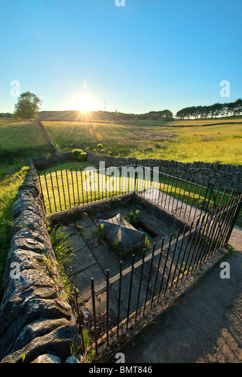 Mompessons well at Eyam - Stock Image