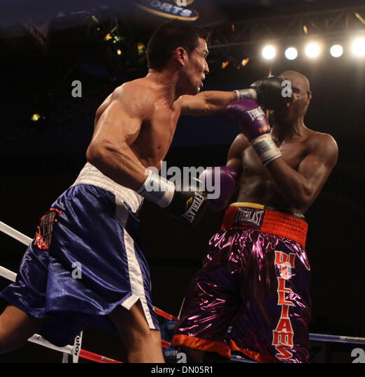 Dec 05, 2009 - Altantic City, New Jersey, USA - BOXING 2009 - In fight action PAUL 'THE PUNISHER' WILLIAMS - Stock Image