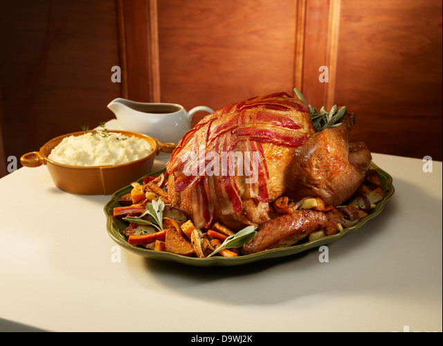 classic thanksgiving turkey meal - Stock Image