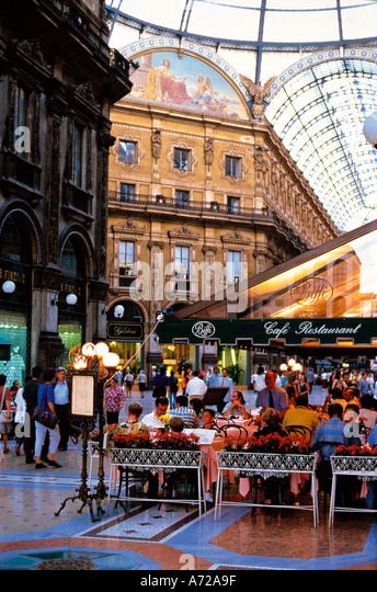 Galleria Vittoria Emanuele 2nd Milan Lombardia Italy - Stock Image
