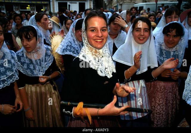 Fest der Mauren und Christen, Soller, Mallorca Spanien - Stock-Bilder