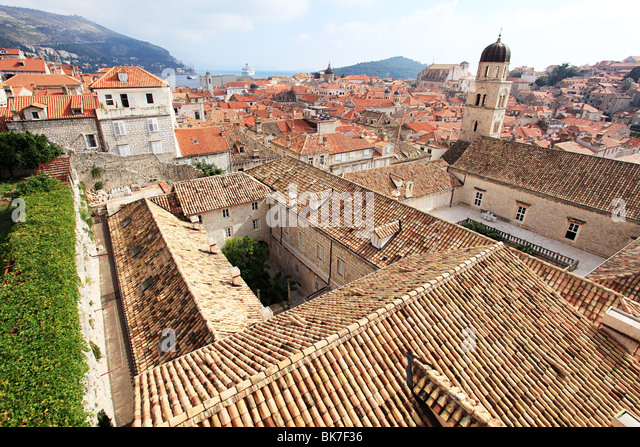 Monastery and buildings in dubrovnik - Stock-Bilder
