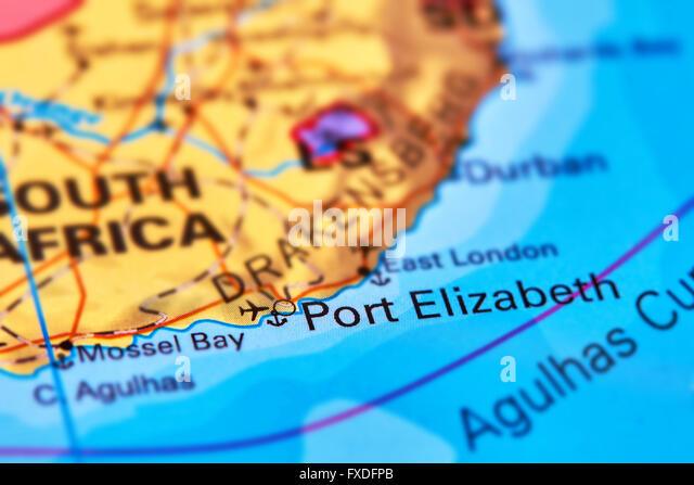 Port elizabeth stock photos port elizabeth stock images alamy - Port elizabeth south africa map ...