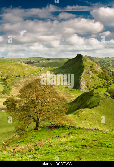 Parkhouse Hill from Chrome Hill, Peak District National Park, Derbyshire, England, UK - Stock Image