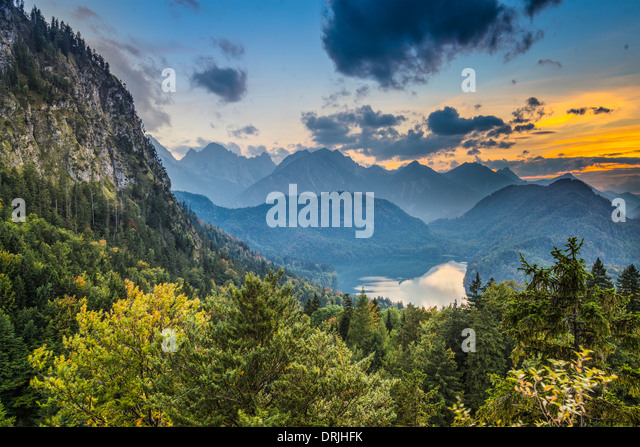 Bavarian Alps landscape in Germany. - Stock Image