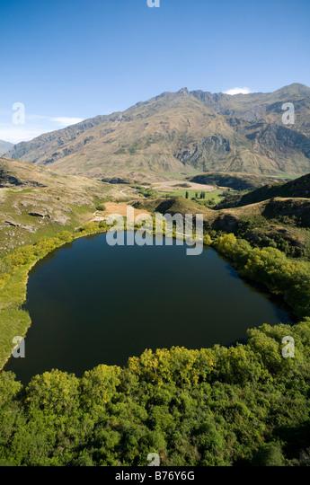 Diamond Lake, near Wanaka, South Island, New Zealand - Stock Image