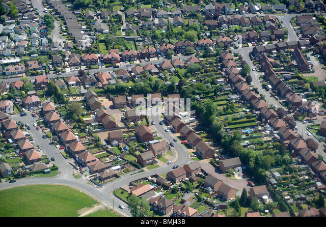 Suburban Britain, Nottingham, East Midlands, England, UK - Stock-Bilder