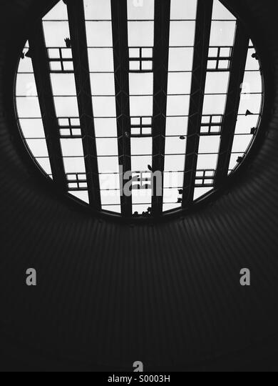 Looking up at massive skylight, Star City, Birmingham - Stock Image