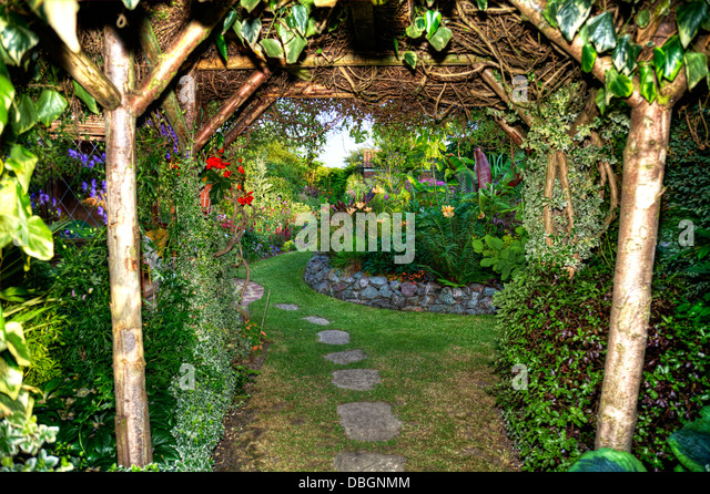 Archway And Garden Stock Photos Archway And Garden Stock
